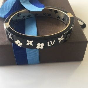 LOUIS VUITTON - NEW GOLD & BLACK BANGLE BRACELET
